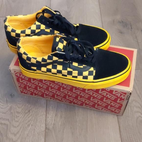 vans checkerboard old skool yellow Sale
